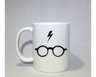 Harry Potter Glasses and Scar coffee mug