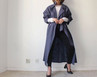 french Touch / Rossetti / Long Trench Vintage / blue individual / 90's