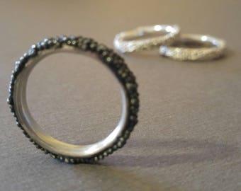 Oxidised Bobble Ring | Bobble ring | Oxidised ring | Silver ring | Sterling Silver ring | Statement ring | Frederickmaijeweller