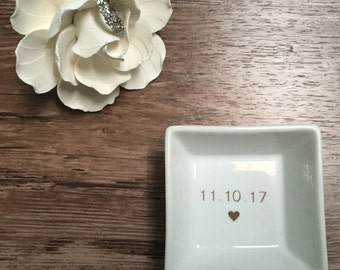 Mrs. Ring dish / engagement gift / trinket dish