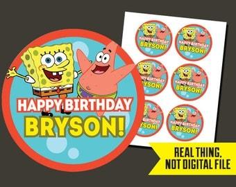 Spongebob Stickers - Spongebob Birthday - Sponge Bob