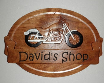Motorcycle shop sign Riders shop Carved Cycle Signs Cycle man cave Motorcycle business shop Cycle business shop Motorcycle signs shop