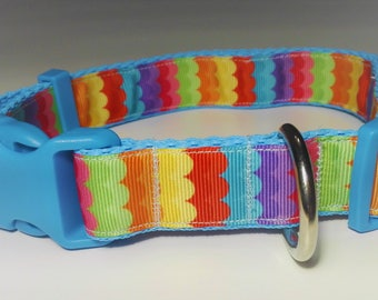 Adjustable Olas Dog Collar - Blue