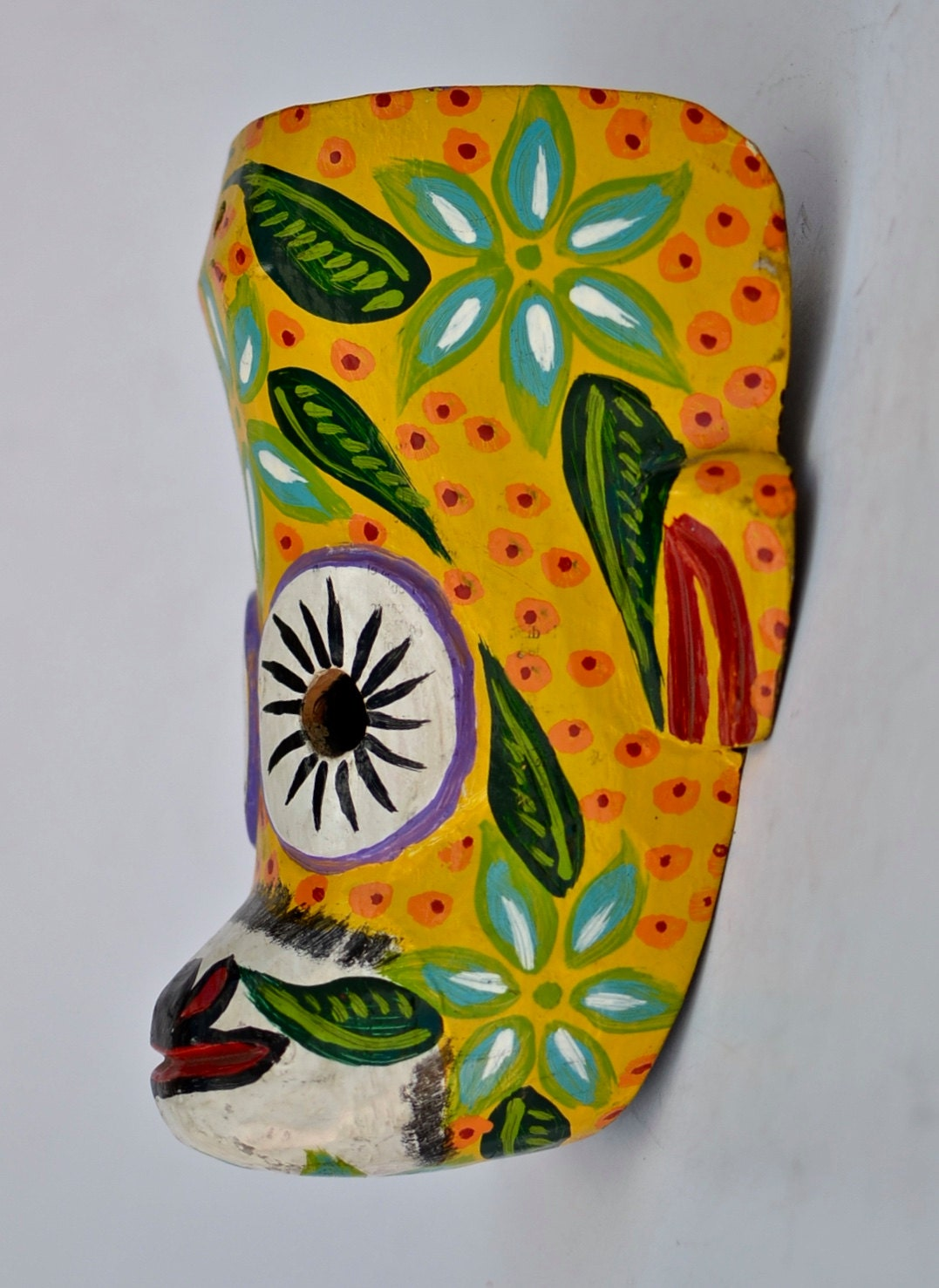 MSK27 - Nursery Decor - Yellow Monkey Mask - Colorful Mask - Wood ...