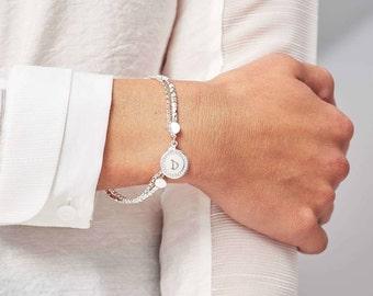 Personalised Double Strand Bracelet. Personalized Double Strand Bracelet