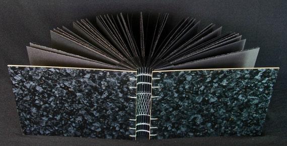 Black Granite Laminate Black Pages Photo Album / Pastel & Charcoal SketchBook