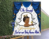 DIGITAL FILE  Geofilter Sign Royal Baby Welcome Poster, Royal Baby Shower Decor, A Prince is On It's Way