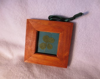 Framed Four Leaf Clover Ornament