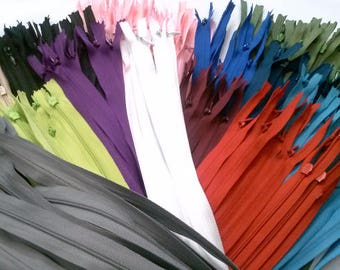 Invisible Zippers 16 Inches Assorted Colors
