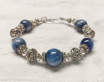 Kyanite and Sterling Silver Bracelet
