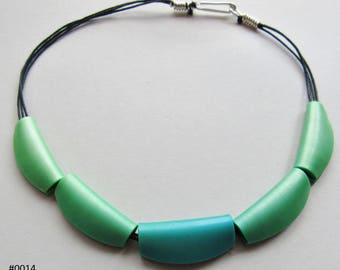 Shades of Green Bead Necklace (#00014)