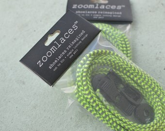 zoomlaces reflective locking elastic shoelaces FITS ALL bungee cord laces
