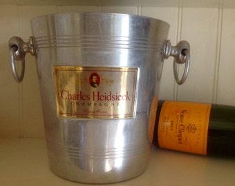 French Champagne Bucket, Charles Heidsieck Vintage Wine Cooler Ice Bucket Wedding Decor,Barware Party Supplies,Planter Kitchen Storage