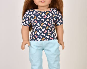 Short Sleeve Basic Top 18 inch doll clothes