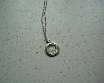 georg jensen silver pendant and chain