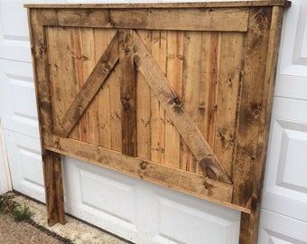 reclaimed wood headboard barndoor bedroom furniture twin full queen king