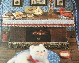 Original UNUSED Vintage Sewing Pattern to make a Cat About The House A Conversation Piece or Soft Body Small Toy Room 18x14 cm Cat 9 cm