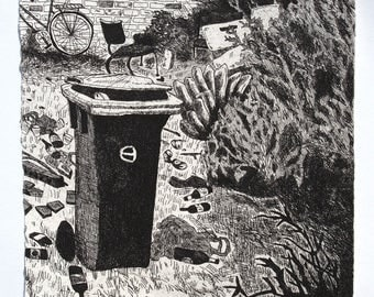 Trashed (bin) - etching