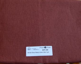 32 ct. Chocolate Raspberry Linen 32 ct. (1/8th yard pricing)