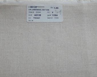 35 ct Lambswool Linen (1/8th yard pricing)