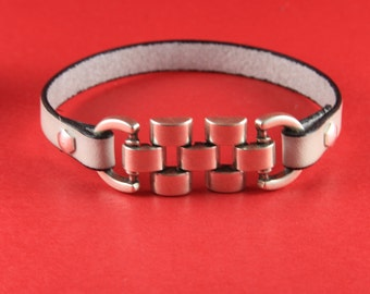 10/3 MADE IN EUROPE bracelet zamak connector, chain spacer, flat cord connector, chain connector (77394/02) Qty1