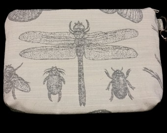 L513.  Dragonfly clutch purse