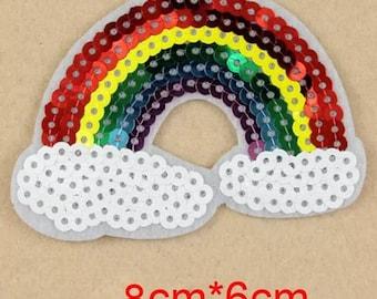 Sequin rainbow patch