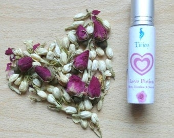 Love Potion-Rose Jasmine & Neroli Natural Roll On Fragrance