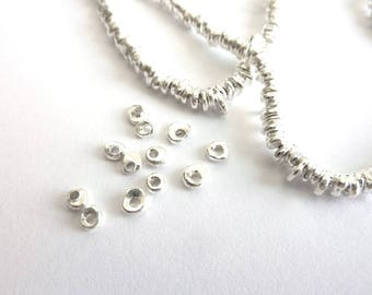 Beads chips 3/4 mm 925 silver on wire 20 cm PN40-12.8G0295