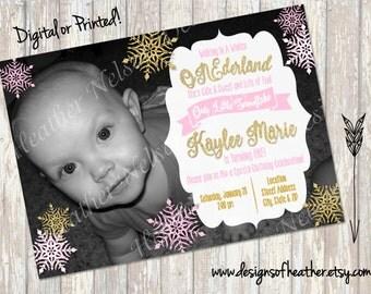 Winter ONEderland Digital Birthday Invitation