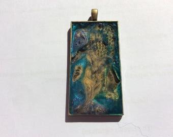 Handmade fantasy prism and resin pendant