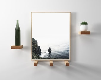 Modern, Minimal, nature and travel photography. Hygge and scandinavian design. Cliffs of Moher, Ireland. Instant Download. Wanderlust photo.