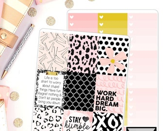 Big Dreams Weekly Kit fir use in Erin Condren Weekly Kit Planner Stickers