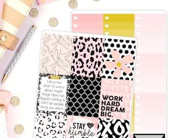 Big Dreams Weekly Kit fir use in Erin Condren Weekly Kit Planner Stickers