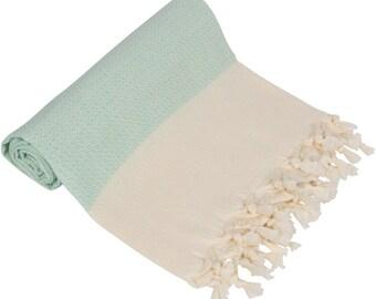 "BIG SALE 60% - Nile Blue Peshtemal-100x180 cm / 40""x71"" - Spa Towel Turkish Towel Beach Towel Bath Towel"