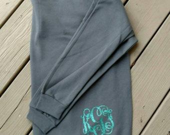 Glitter monogram sweatshirt, monogram sweatshirt, custom sweatshirt, birthday gift