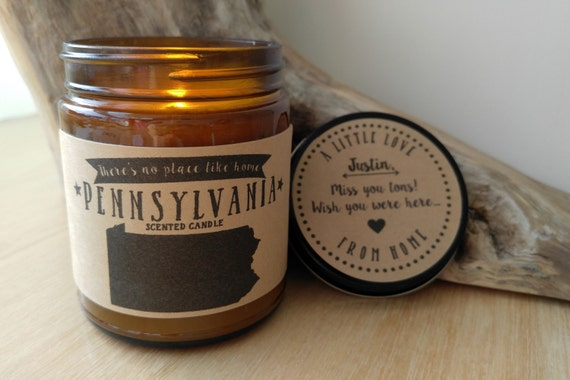 pennsylvania scented candle missing home homesick gift moving