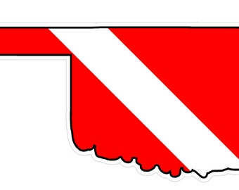 Oklahoma State (Y37) Diver Down Flag Vinyl Decal Sticker Car Laptop/Netbook