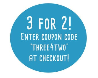 Coupon Code: Three For Two!
