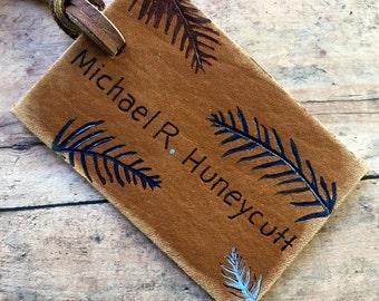 Beach travel tag - destination wedding luggage tag favor - beach wedding name tag - custom destination wedding favors - beach luggage tags