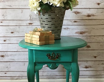 Refinished vintage nightstand or end table