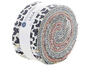 "LILLA - by Lotta Jansdotter for Windham Fabrics - JELLY ROLL - 40 Strips - 2.5"" x 44"""