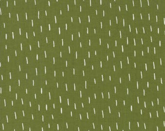 Just a Dash Holly - MERRILY - by Gingiber for Moda Fabrics - Winter Dark Green - 48214 23