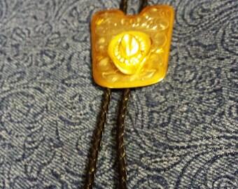 Beautiful Gold  Hat and Rhinestone Bolo Tie
