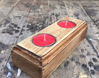 Pallet tealight holder