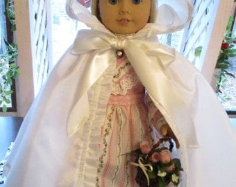 "Historic Doll Cape to fit your 18"" American Girl Doll in Cream"