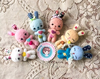 Cute Bunny plush toy for Blythe dolls