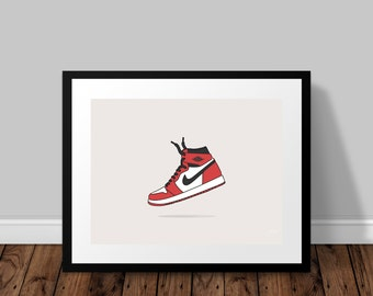 Nike Air Jordan OG Illustrated Poster Print | A6 A5 A4 A3