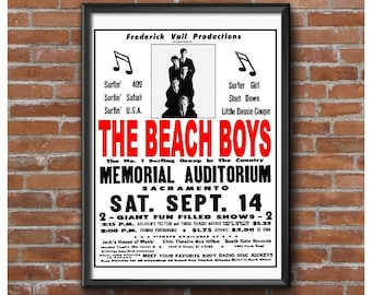 The Beach Boys Sacramento Concert Poster – Saturday, September 14, 1963