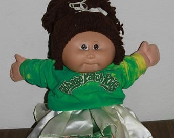 1984 Cabbage Patch Doll Brown Hair Brown eyes in Cheerleader outfit